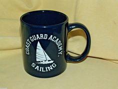 Coast Guard Academy Mug Sailing Coffee Tea Cup Black White 2 Sided Clean VGC