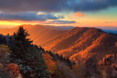 Sunrise from one of the most beautiful places on the east coast: Great Smoky Mountains National Park.