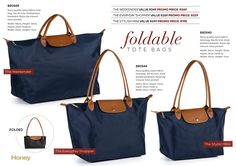 Longchamp, Travel Bags, Fashion Accessories, Honey, Pocket, Tote Bag, Navy, Stylish, Travel Handbags