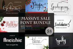 MASSIVE SALE FONT BUNDLE by CreativeDesign available for $4.00 at FontBundles.net