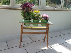 Vintage/retro 1950s, 1960s plant stand with formica top - mid century