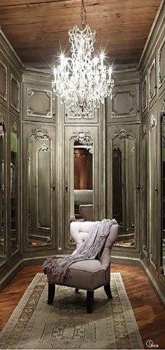 Architecture Luxury Interiors | Rosamaria G Frangini || French Dressing Room                                                                                                                                                      More