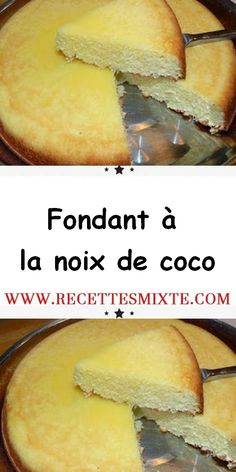 What a great passion for baking, but it is still often a bit time-consuming … But if you search a little, you will find simple, quick and ultra-gourmet recipes. That's how I found this delicious coconut fondant. Desserts With Biscuits, Mini Desserts, Chocolate Desserts, Easy Desserts, Delicious Desserts, Meat Recipes, Gourmet Recipes, Cake Recipes, Dessert Recipes