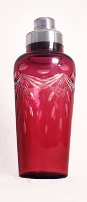 vintage cocktail shaker, beautiful color