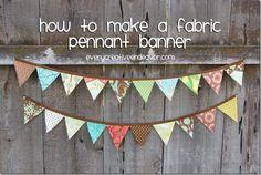 Every Creative Endeavor: Make a Fabric Pennant Banner {Tutorial}