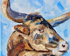 Irish Design farmed in Ireland by IrishFarmArt on Etsy Irish Design, Cow Art, Ireland, Moose Art, Handmade Gifts, Painting, Animals, Etsy, Vintage