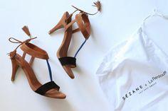 Sézane x La Redoute Sandals in camel & blue/ Spring Summer 2015