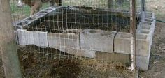 A functioning, cinder block fishing worm bed