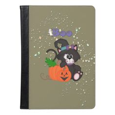#Boo Black Cat and Pumpkins iPad Air Case - #Halloween happy halloween #festival #party #holiday
