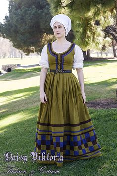 » German Checkered Gown Faerie Queen Costuming