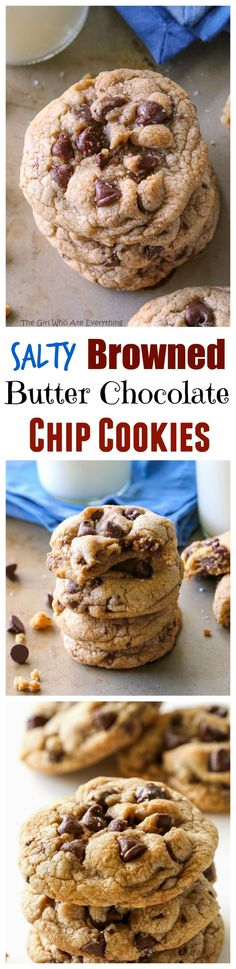 Salty Browned Butter Chocolate Chip Cookies - the-girl-who-ate-everything.com