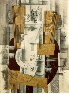 Artist: Georges Braque  Completion Date: 1913  Place of Creation: France  Style: Synthetic Cubism  Genre: abstract painting  Technique: charcoal, gouache, oil  Material: canvas  Dimensions: 81 x 60 cm  Gallery: Musée National d'Art Moderne, Centre Georges Pompidou, Paris, France