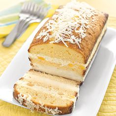 pina colada ice cream cake.