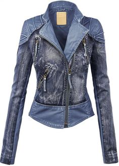 LL Womens Hooded Faux leather Jacket ✮✮✮✮  778 customer reviews. Color: WJC1016_BLUE. 100% POLYURETHANE (shell) 100% POLYESTER(lining) Exposed zipper details Fully lined Medium weight HAND WASH COLD / HANG TO DRY / DO NOT IRON / DO NOT DRY CLEAN. https://twitter.com/TheMarketer2015/status/644553807125417985