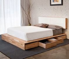 27 insanely genius diy pallet bed ideas that will leave you speechless diy pallet bed pallets and pallet projects