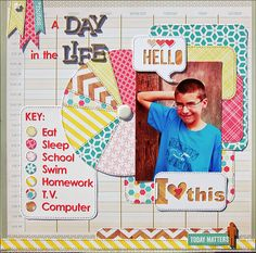 A Day In The Life *Scraptastic Kits* - Scrapbook.com