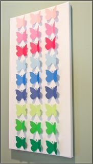 Like the one I wanted to do with my child. Have her paint the sky and punch out butterflies from painted paper.