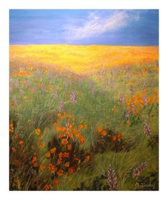 Michelle Zindorf's field of flowers painting