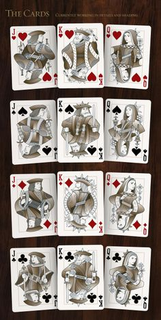 Origins Playing Cards - Inspired by history by Rick Davidson » Suit revisons — Kickstarter