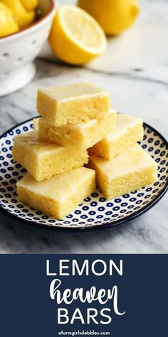 Lemon Heaven Bars are dense and soft and chewy. Loaded with fresh lemon flavor and covered with a thin, sweet glaze, they are completely irresistible! #lemon #bars #dessert #easy