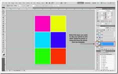 Project Life Template-Free   For 6 square photos plus a tutorial on how to use it in Photoshop.