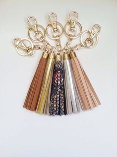 Genuine Leather Keychains / Bag Charms Tassels - For keys or purses Coach JCrew Inspired on Etsy, $16.00