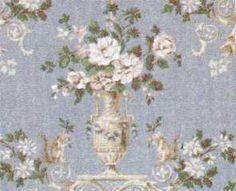 Wallpaper Dubarry Blue 3pc | Mary's Dollhouse Miniature Furniture & Accessories