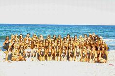 delta phi epsilon ~ dphie at FAU ~ bid day photos at the beach