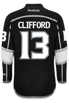 dac26a0a8 Los Angeles Kings Kyle CLIFFORD  13 Official Home Reebok Premier Replica  Adult N CoolHockey