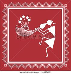 Find Indian Tribal Painting Warli Painting stock images in HD and millions of other royalty-free stock photos, illustrations and vectors in the Shutterstock collection. Madhubani Art, Madhubani Painting, Worli Painting, Fabric Painting, Lotus Art, Indian Folk Art, Indian Art Paintings, Art N Craft, Monochrom