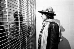 "Bob visits Ruben ""Hurricane"" Carter at Clinton State prison in New Jersey on the Rolling Thunder Revue Tour"