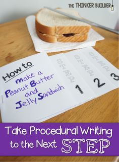 Take Procedural Writing to the Next Step~ A great little lesson and a freebie. Love doing this with my friaries to get them writing procedural pieces. Writing Lessons, Writing Resources, Teaching Writing, Writing Activities, Teaching Ideas, Writing Ideas, Teaching Resources, Writing Lists, Student Teaching