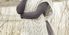 "Come Winter by DROPS Design. #Poncho with cables and high collar in ""Cloud"". Free #knitting Pattern 