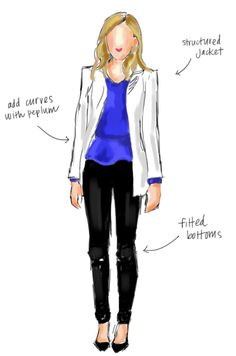 How to dress a rectangle or boyish shaped body.