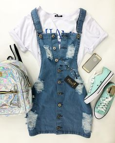 Teenager Outfits - Welcome Pikide Cute Outfits For School, Teenage Outfits, Cute Casual Outfits, Teen Fashion Outfits, Swag Outfits, Mode Outfits, Cute Summer Outfits, Outfits For Teens, Pretty Outfits