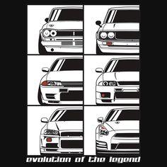 Nissan Skyline. Evolution
