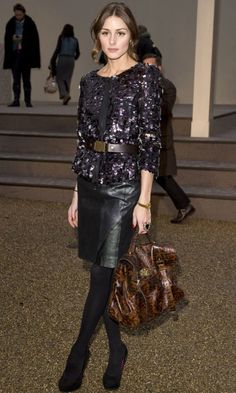 Olivia Palermo At The Burberry Show During London Fashion Week, 2010