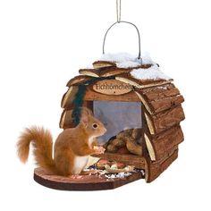 Futterhaus für Eichhörnchen Vorderansicht