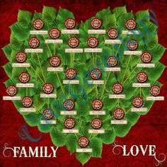 Magnetic family tree game page.