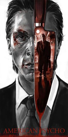 Horror Movie Art : American Psycho 2000 by Robert Bruno Horror Movie Posters, Cinema Posters, Movie Poster Art, Poster S, Kino Film, Alternative Movie Posters, Film Serie, Cool Posters, Movies Showing