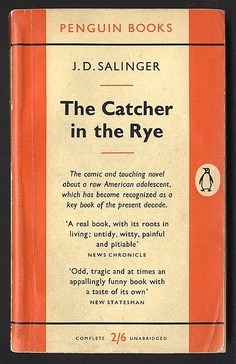 Catcher in the Rye. one of my all time favorite books Reading Lists, Book Lists, Good Books, Books To Read, Catcher In The Rye, Forever Book, Stream Of Consciousness, Little Library, Penguin Books