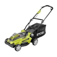 Ryobi 16 in. Lithium-Ion Cordless Walk-Behind Lawn Mower - Battery and Charger Not Included at The Home Depot - Mobile Best Riding Lawn Mower, Best Lawn Mower, Lawn Mower Tractor, Lawn Tractors, Battery Powered Lawn Mower, Walk Behind Lawn Mower, Le Hangar, Patio Diy, Portable Air Compressor