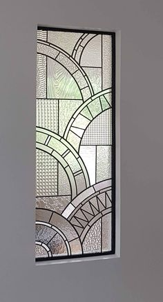 Modern Stained Glass, Stained Glass Door, Stained Glass Designs, Stained Glass Panels, Stained Glass Projects, Stained Glass Patterns, Motif Art Deco, Art Deco Design, Art Deco Style