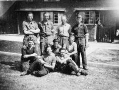 This photograph taken secretly with a pinhole camera shows German prisoners of war from Hylands or Sandford Mill working at Chelmsford, Essex in 1947. POWs were forbidden to take photographs so this is a rare example. Reproduced by permission, Chelmsford Museum