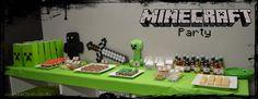 minecraft party .... Ooooo my precious boy would love this!!!!