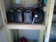 Solar power off grid cabin