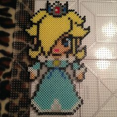 30(w)x50(h) pegs needed.  Rosalina Mario perler beads by kylerkaboom