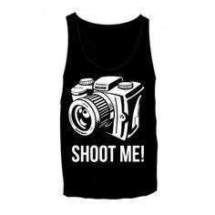 Black 'Shoot Me!' Top 4237
