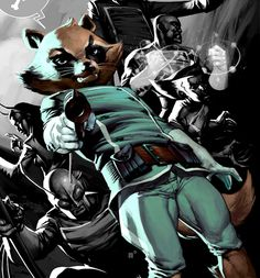 Rocket Raccoon by Nic Klein