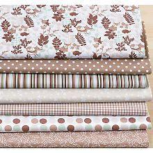 Lot de 7 coupons de tissu patchwork 'Fox & Forest'